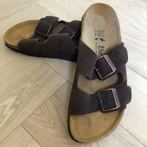 BIRKENSTOCK Betula Arizona Brown suede sandals 39